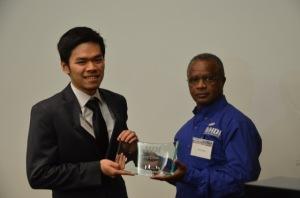 9-James presents award